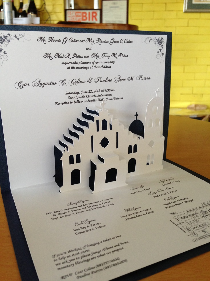 Church Pop Up Wedding Invite | Pop Up Occasions
