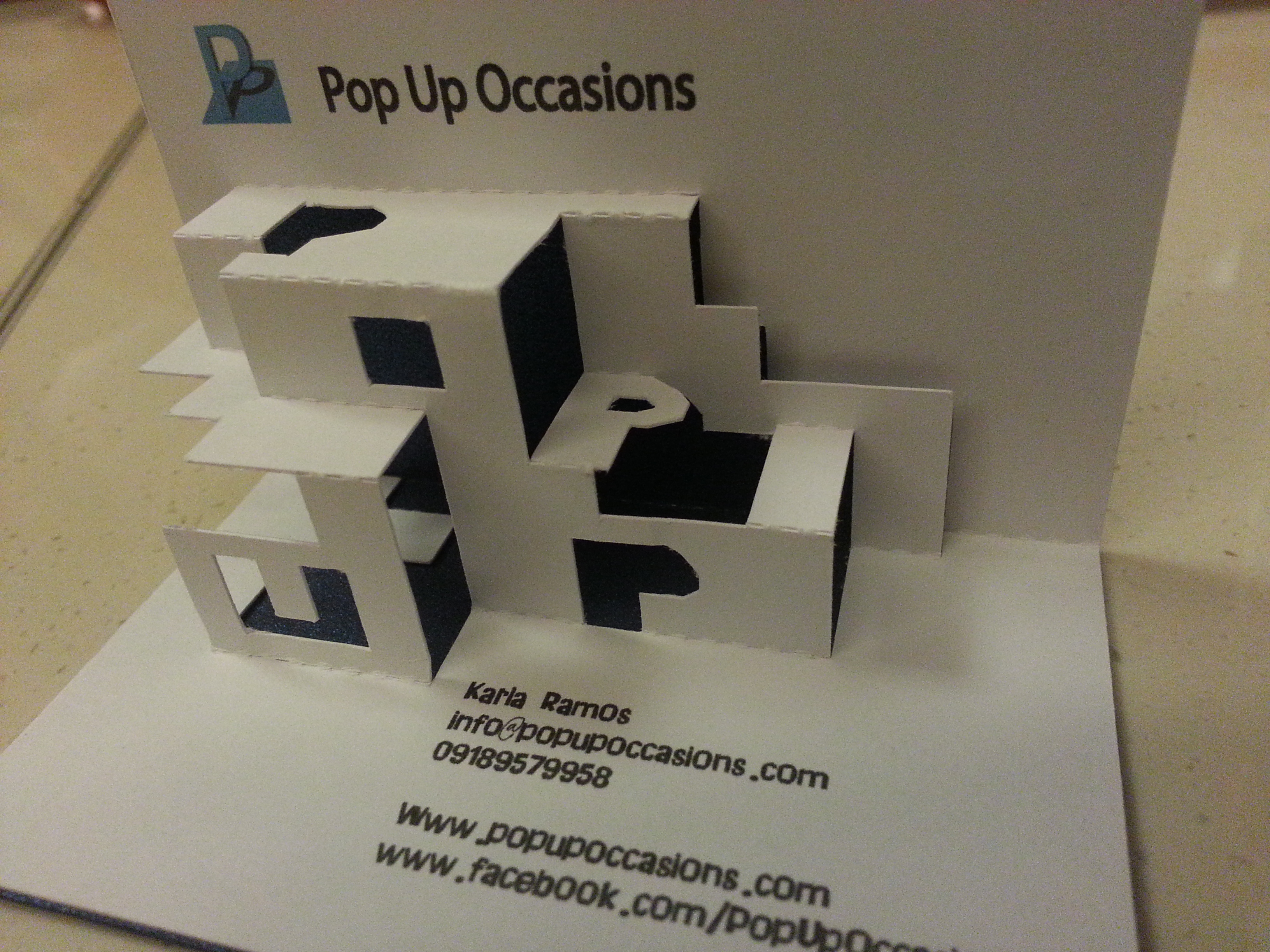 how cool is pop up occasions u0026 39  pop up business card