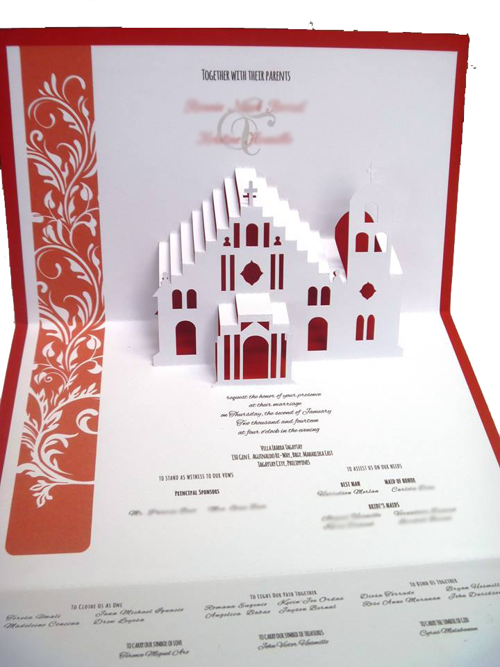 Church Pop Up wedding pop up invitations wedding invitation,Pop Up Invitations Wedding