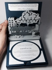 Pop Up Box Wedding Invitation   Chemical Reaction