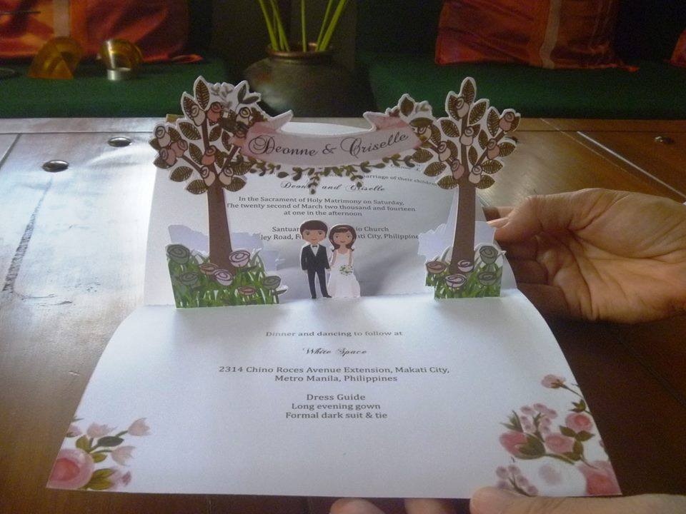 wedding pop up invitations