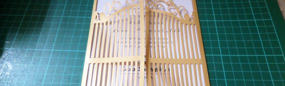 Cut-out Wrought Iron Gate for Invitation