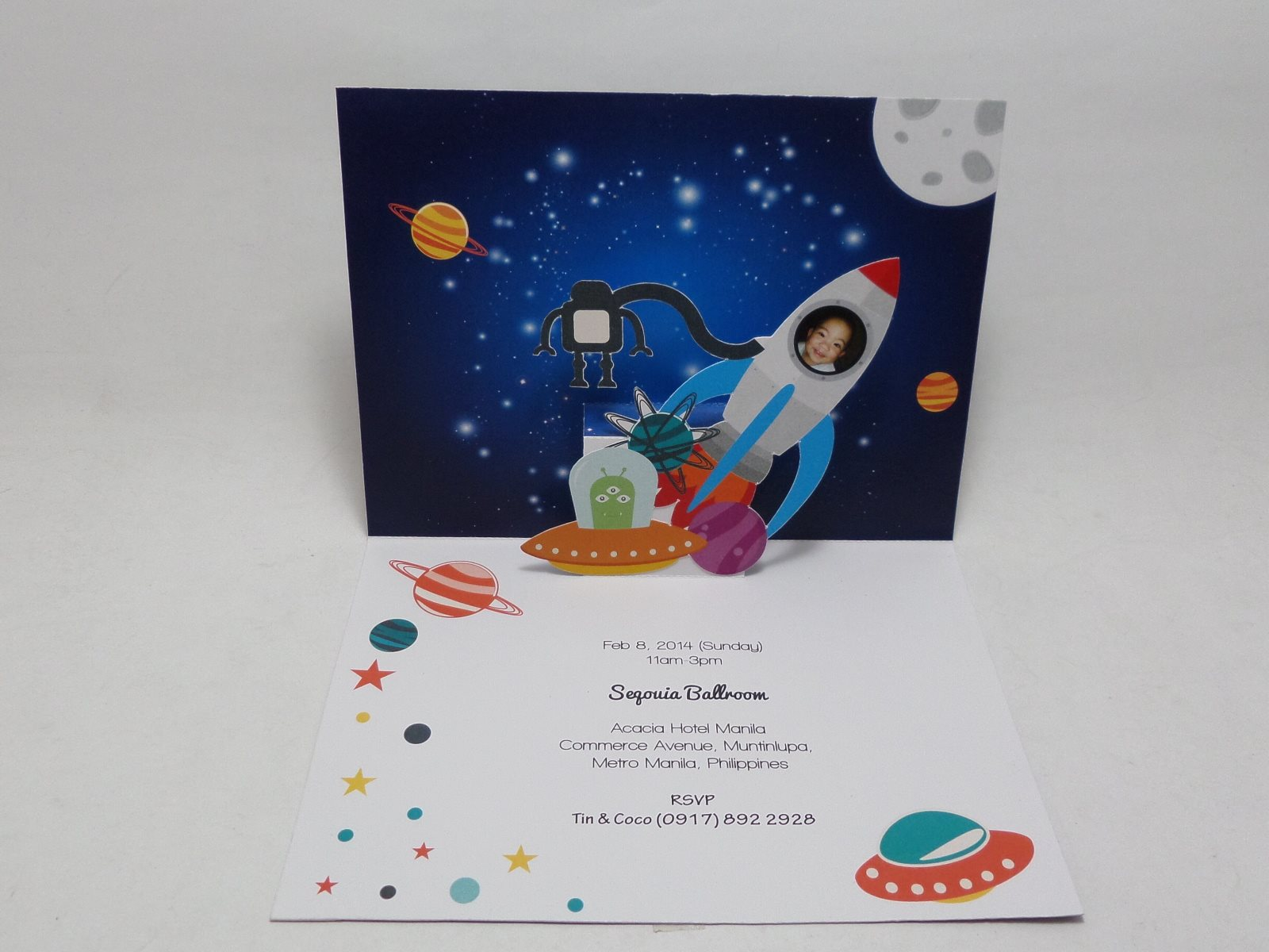 Space Themed Pop Up Invitation