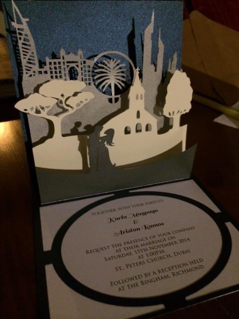 wedding pop up invitations